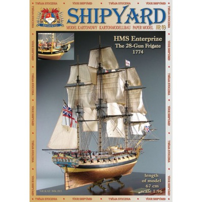 SHIPYARD 69 - Fregata HMS Enterprize 1:96