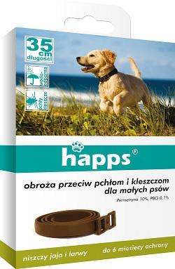 Happs ошейник 35 см блохи клещи Собака маленький Bros