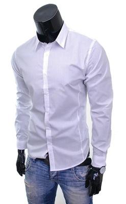 e48e5a5f66da16 Modna koszula męska długi rękaw łaty LA MARDO r XL - 7067284225 ...
