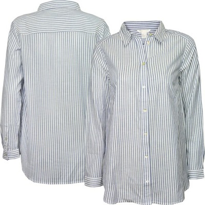a5f5117a Bluzka w paski H&M różowa szara t-shirt 3XL