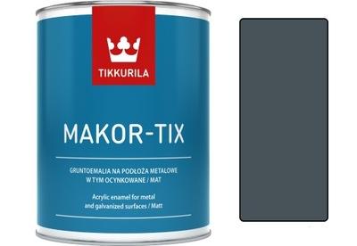 Tikkurila Makor-tix farby na podbitie strechy 1L grafit