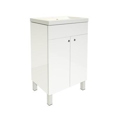 szafka z umywalką 60 stojąca 4 nogi biały lakier