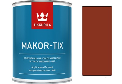 Tikkurila Makor-tix hot 3L farba červená dusnatého