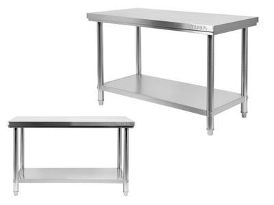 Pracovný stôl, stavebný podstavec -  TABULKA WORKSHOP YATO 150x70cm NEREZOVÝ OCEL
