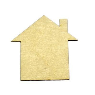 Dom domek z drewna sklejka decoupage 10cm EKO