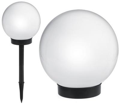 для сада лампа LED солнечная, большая молочное шар 15cm