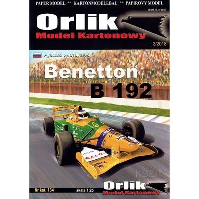 Орлик 134 - Benetton B 192 - болид Формулы 1 1 :25