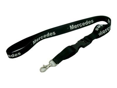 ПОВОДОК MERCEDES Черный + надпись 20мм