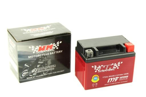 аккумулятор żelowy 12v ytx4l-bs 4ah скутер zipp, фото