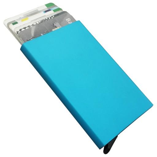 Etui na karty kredytowe GALO 944 niebieskie RFID
