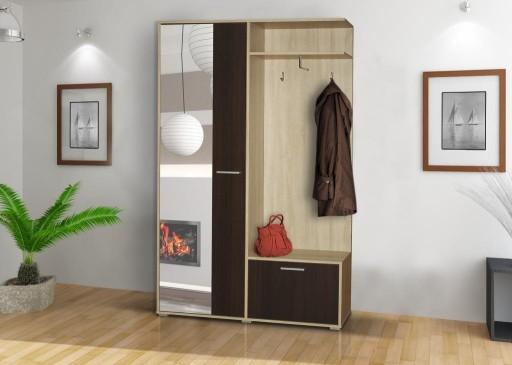 garderoba szafa do przedpokoju z lustrem wieszak