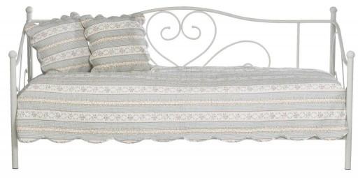 łóżko Pojedyńcze Metalowe Białe 90x200cm Styl Ikea