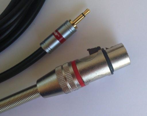IMG kabel  mini Jack mono / XLR  żeński 3P    2.5m