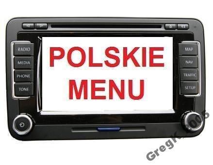 POLSKIE MENU LEKTOR VW SKODA RNS510 MFD2 DVD V16