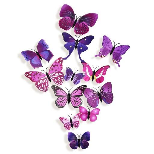 Motyle Motylki Art Deco Naklejki ścienne Na ścianę