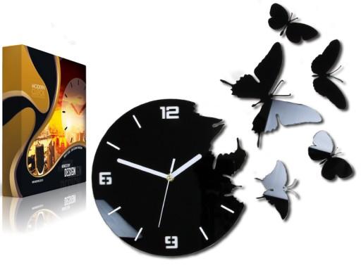 Zegar ścienny ModernClock - MOTYLE 3D - TOP DESIGN