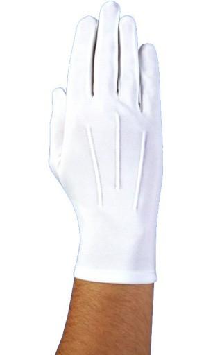 8b868226a8cbb białe rękawiczki męskie,do sztandaru,do munduru,M 7165779204 - Allegro.pl