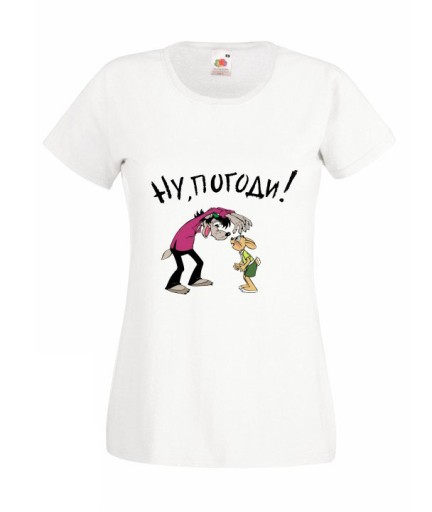 Damska Koszulka Wilk I Zajac Bajka Wzory 9834403051 Allegro Pl