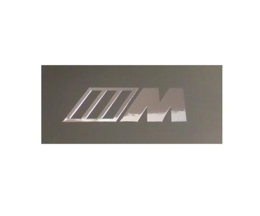 144b NAKLEJKA BMW M LOGO Metal Edition 61 x 22 mm