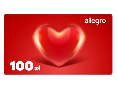 Karta Podarunkowa Walentynki - Serce - 100 zł