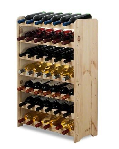 Oryginał Regał na wino drewniany stojak półka RW-3-42 surow 6953127293 XX37