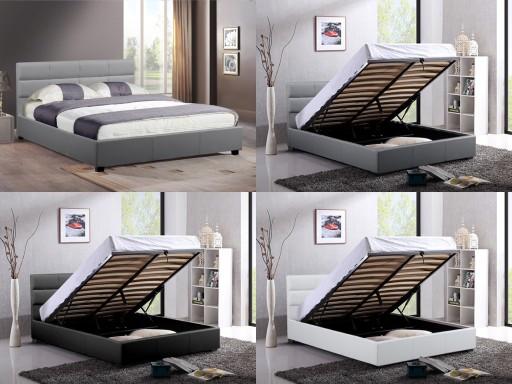 łóżko Tapicerowane Arezzo Stelaż Bukowy 180x200