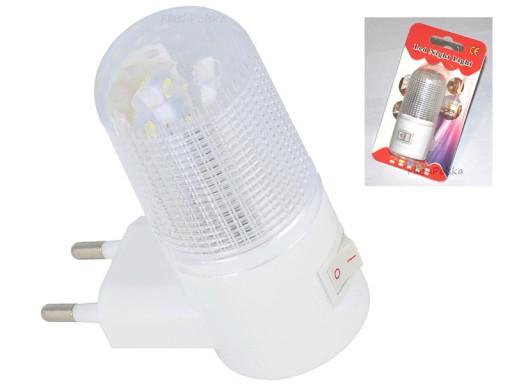 Lampka Nocna Do Kontaktu 4 Led Z Wyłącznikiem Ver4 6709597066