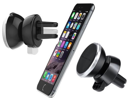 Uchwyt do samochodu na telefon do kratki na magnes