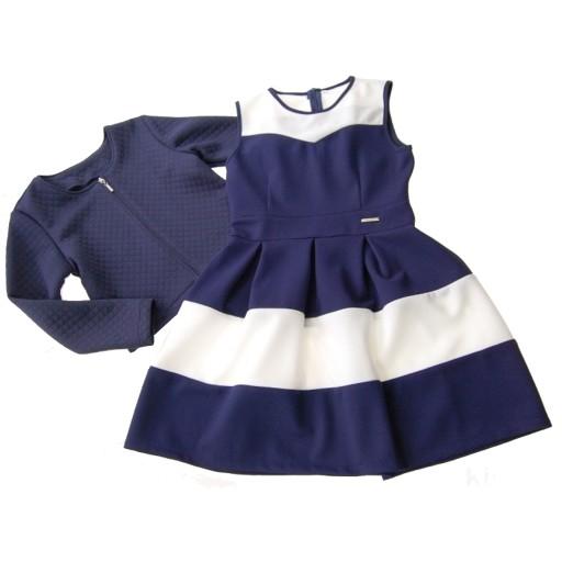 Klasyczna Sukienka Bolerko Chanelka 146 7479123685 Allegro Pl