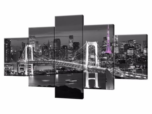 Obraz Do Salonu Fiolet 150x80 Obrazy Miasto 1772 6513464380 Allegropl