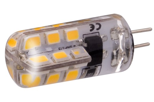 żarówka Led G4 Smd 32w Mini Silikon Ciepła 12v Dc