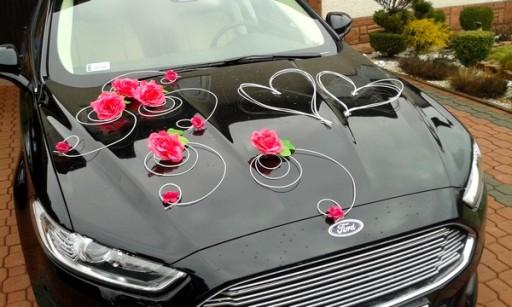 Bardzo dobra Dekoracja samochodu ozdoby na auto do ślubu kolory 6728275986 PI38