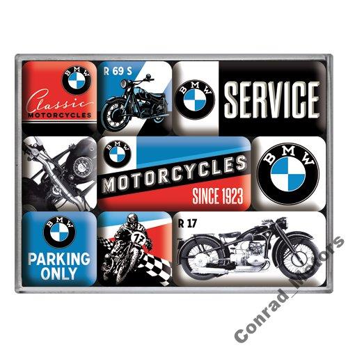 Zestaw magnesów na lodówkę logo BMW PREZENT
