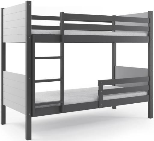 łóżko Piętrowe Clir 200x90 Dla Dzieci Barierka 7458402339 Allegropl