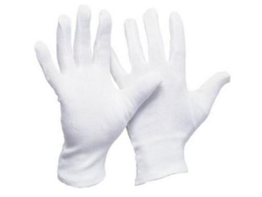 a009aa3958dad7 Rękawice rekawiczki robocze bawełniane białe 9 6744664404 - Allegro.pl