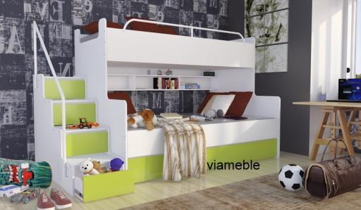 łóżko Piętrowe Dla Dzieci 3 Osobowe Z Materacami 6644642771 Allegropl