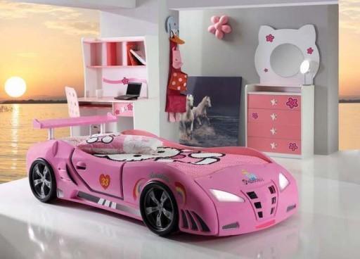 łóżko Samochód Auto Dla Dzieci Dziewczynki Różowe