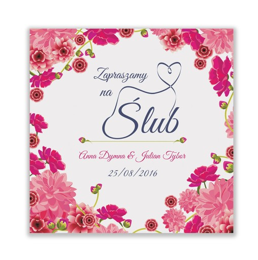 śliczne Zaproszenia ślubne Drukowane 22 Wzory 5993385467