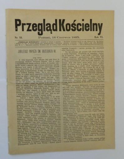 1885 Wielkie Ks. Poznańskie Grzegorz VII Leon XIII