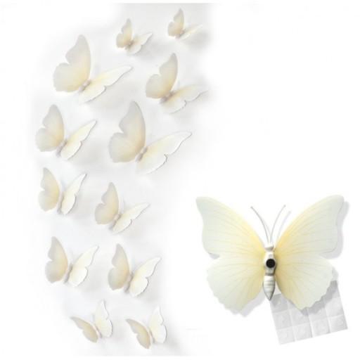 Motylki Motyle 3d Na ścianę Dekoracja 12szt 7xkol