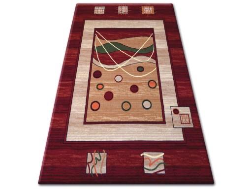 Dywany łuszczów Primo 80x150 Groszki Bordo Gr1062