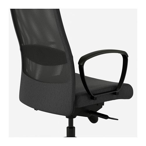 IKEA MARKUS krzesło biurowe obrotowe fotel C.SZARY