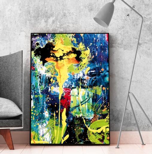 Obraz Plakat Abstrakcja Do Salonu 50x70 Cm B2