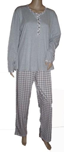 Piżama damska Cana 382 bawełna długi rękaw XL
