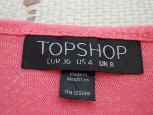 Bluzka crop top krótka asymetryczna TopShop 36 /38