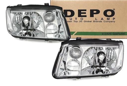 Depo Reflektory Lampy H4 Vw Bora Lp Nowe 2 Szt