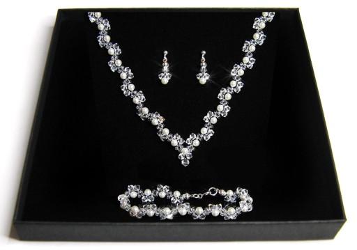 8390b5d624f8 Biżuteria ślubna kryształy perły Swarovski Komplet 7008913382 ...
