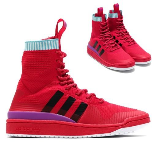 ceb81a50 Buty Adidas Forum BZ0645 czerwone trampki Wiosn 41 7576303791 ...