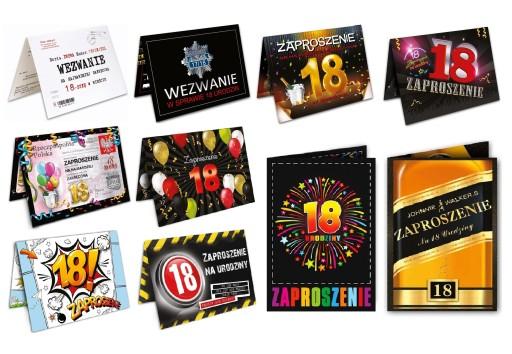 Zaproszenia Na 18 Urodziny 10szt Koperty Promo 7181893856 Allegropl