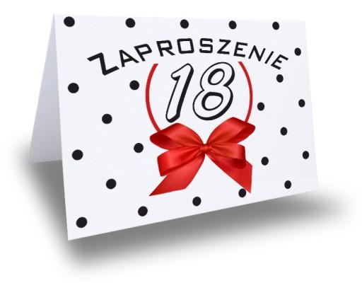 Zaproszenie Zaproszenia Na 18 Urodziny Osiemnastkę 6309752027